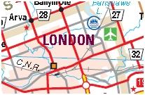 London Motorcycle Map