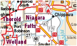 Niagara Falls Motorcycle Map