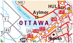 Ottawa Motorcycle Map