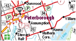 Peterborough Motorcycle Map