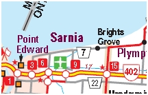 Sarnia Motorcycle Map