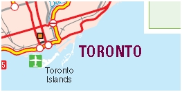 Toronto Motorcycle Map