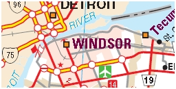 Windsor Motorcycle Map