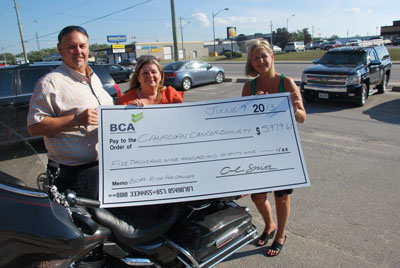 BCA donation cheque to Cancer Foundation last year