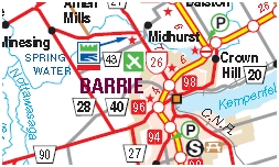 Barrie Ontario Motorcycle Map