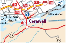 Cornwall Motorcycle Map