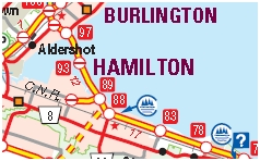 Hamilton Motorcycle Map
