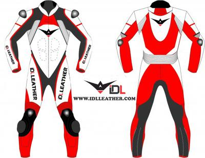 Leather suit for motorbike