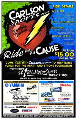 Carlson Ride for the Cause - North Bay ON