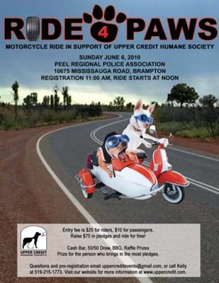 Upper Credit Humane Society Ride for Paws