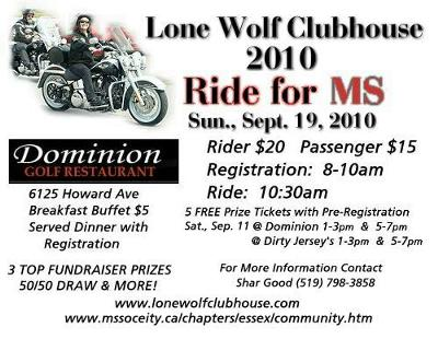 2010 Ride for MS - POKER RUN