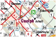 Guelph Motorcycle Map