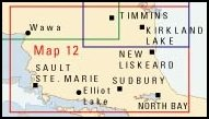 Map of Northern Ontario